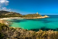 Картинка море, пляж, небо, голубое, побережье, Франция, бухта