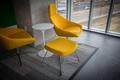 Картинка стол, комната, стулья, желтые