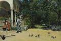 Картинка Раймундо Мадрасо, Павильон Карла V в Садах Альказар в Севилье, картина