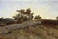 Картинка пейзаж, Закат, картина, Карлос де Хаэс, Арагон