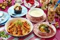 Картинка суп, коктейль, десерт, салат, креветки, блюда, ассорти