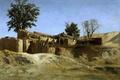 Картинка пейзаж, картина, Карлос де Хаэс, Хибары на Холме Принсип Пио близ Мадрида