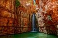 Картинка вода, скалы, водопад, поток, ущелье, Израиль