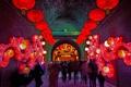 Картинка огни, люди, Китай, Шэньси, Южные ворота, Сиань