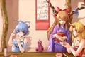 Картинка девочки, игра, аниме, арт, кафе, То:хо, Touhou Project
