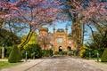 Картинка деревья, дизайн, замок, забор, Германия, сад, дорожка