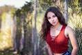 Картинка лето, девушка, лицо, фон, волосы, Karissa