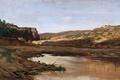 Картинка пейзаж, картина, Карлос де Хаэс, Пруд около Харабы в Арагоне