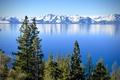 Картинка деревья, горы, озеро, Калифорния, Невада, California, Nevada