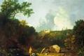 Картинка пейзаж, картина, Пейзаж в Тиволи с Видом на Виллу Мецената, Ричард Уилсон