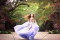 Картинка платье, девочка, Wind Blown