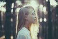 Картинка девушка, волосы, блондинка, профиль