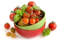Картинка помидоры, томаты, базилик