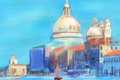 Картинка пейзаж, картина, Италия, Венеция, собор