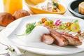 Картинка мясо, овощи, соус, декор