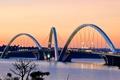 Картинка огни, вечер, Бразилия, озеро Параноа, мост Жуселину Кубичека