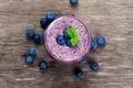 Картинка ягоды, черника, коктейль, fresh, blueberry, berries, йогурт