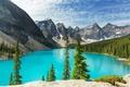 Картинка лес, озеро, Canada, landscape, lake, Banff National park, Moraine