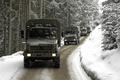 Картинка зима, снег, Mercedes, колонна, unimog, u5000