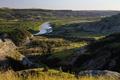 Картинка горы, река, долина, США, Theodore Roosevelt National Park