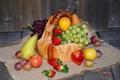 Картинка яблоки, клубника, виноград, фрукты, сливы, груши