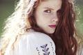 Картинка лицо, волосы, портрет, веснушки, рыжая