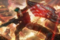 Картинка огонь, флаг, арт, автомат, солдаты, Homefront: The Revolution, Freedom Fighters