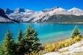 Картинка снег, деревья, горы, природа, озеро