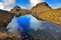 Картинка облака, горы, озеро, отражение, Италия, Pietra Quadra