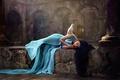 Картинка девушка, птица, голубь, сон