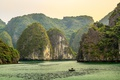 Картинка море, скалы, лодка, бухта, Vietnam, Long Bay