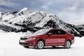 Картинка снег, горы, седан, Sedan, шкода, Skoda, Octavia
