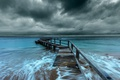 Картинка море, небо, мост, природа