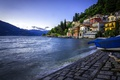 Картинка озеро, здания, Италия, набережная, Italy, озеро Комо, Ломбардия