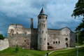 Картинка трава, деревья, замок, стены, башня, Эстония, развалины