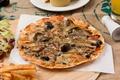 Картинка грибы, пицца, начинка