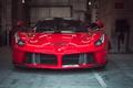 Картинка красное, гараж, Феррари, Ferrari, классика, передок