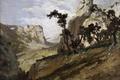 Картинка природа, скалы, картина, Карлос де Хаэс, Горный Пейзаж