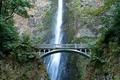 Картинка мост, скала, водопад, США, Oregon, Multnomah falls