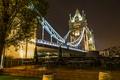 Картинка ночь, мост, огни, Англия, Лондон, Tower Bridge