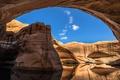 Картинка озеро, скалы, арка, Юта, США, Сан-Хуан