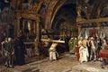 Картинка интерьер, картина, мифология, Хосе Хименес Аранда, Penitents in the Lower Basilica of Assisi