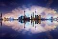 Картинка отражения, город, Китай