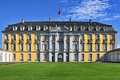 Картинка небо, солнце, газон, Германия, дворец, Augustusburg