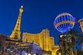 Картинка ночь, огни, башня, Лас-Вегас, США, Невада, казино