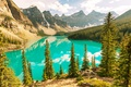 Картинка Canada, Moraine, озеро, Banff National park, lake, лес, landscape