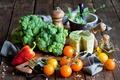 Картинка сыр, перец, овощи, помидоры, капуста, cheese, pepper