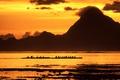 Картинка море, горы, лодка, Таити, Французская Полинезия, Острова Общества