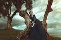 Картинка деревья, природа, лицо, волосы, Девушка, платье