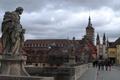 Картинка мост, люди, башня, дома, Германия, Бавария, собор